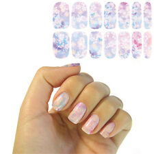 1 Sheet Nail Art Water Decal Manicure Transfer Sticker Light Purple Butterfly