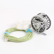 3/4 Weight Aluminum Large Arbor Trout Fly Fishing Reel 3inch DIA Fly Line Combo