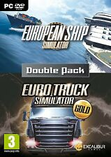 Euro Simulations Double Pack - European Ship Simulator/ Euro Truck Gold (PC NEW