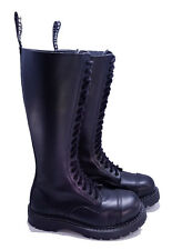 Grinders Dr. Martens Doc Black 20 Eye King Steel Toe Boots UK 4 US 5