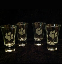 4 X PAW ETCHED SHOT GLASSES GIFT PRESENT DOG SETTER SPANIEL BOXER POINTER BEAGLE