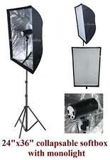 160w Photo Video Studio Strobe Monolight Flash Reflective Softbox Lighting kit