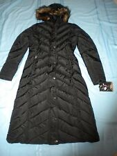 $160 NWT CB Sports Women Black Hooded Full Lenght Winter Coat  Size M