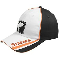 Simms Bass Tech Cool & Dry UPF 50+ Fishing Cap / Hat - Color Black & White NEW!