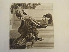 Franz von Bayros erotische Radierung / Aquatinta um 1907 Jugendstil 6
