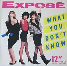 "Expose - What You Don't Know: 5 Versions (12"" Arista Vinyl Maxi-Single USA 1989)"
