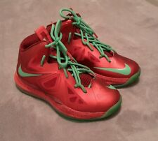 Nike Lebron Christmas 2012 X-mas Red Green Boys Size 3.5 Youth Basketball Shoes