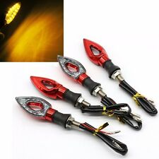4x 12LED Universal Motorcycle Motorbike Turn Signal Indicators Lights Lamp Amber