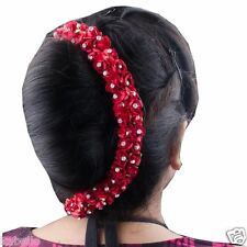 New Gajra Hair Veni Garland Flowers Hair Accessories Hair Gajra Red Color