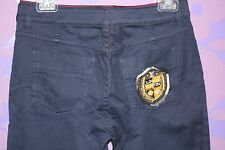 Louis Vuitton Skinny Jean 'Treggings' Studs Monogram Plaid Shield Patch Pant 40!