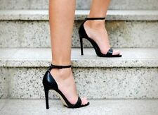ZARA black strappy leather sandals heels with ankle straps sold out blogger 9