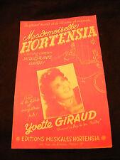 Partition Mademoiselle Hortensia Yvette Giraud Music Sheet