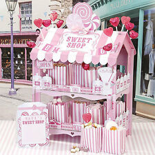 TALKING TABLES PINK SWEET SHOP STAND Plus 12 x Stickers Paper Treat Bags SWEETPK