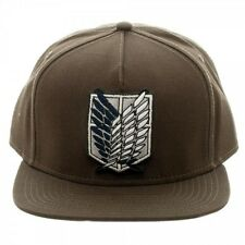 OFFICIAL ATTACK ON TITAN SCOUTING REGIMENT SYMBOL BROWN SNAPBACK CAP (BRAND NEW)