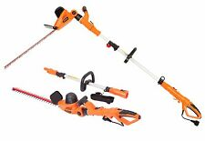 Garcare 4.8A Multi-Angle Corded 2 in 1 Pole and Portable Hedge Trimmer with 2...