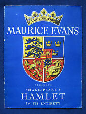 ORIGINAL DELUXE SOUVENIR PROGRAM of Actor MAURICE EVANS Production of HAMLET