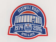 Edmonton Oilers Farewell Season Patch Rexall Place