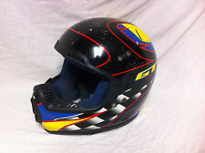Rare Mens Large GT RACING HELMET Mid School BMX Old Bicycle Bike Full Face