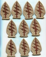 Dealer lot of 10 US Army Special Forces DCU Desert Tan Patches