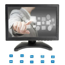 "Portable 10"" Touch Screen IPS LCD Digital Monitor AV/VGA/TV/HDMI For POS KIOSK"