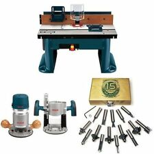 Bosch Professional Benchtop Router Table with Router and Bit Set Working Design