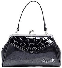 Sourpuss Purse Web Backseat Baby Black Silver Punk Goth Tattoo 50S Retro Handbag