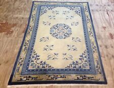 Antique Large Chinese Rug With Ivory Colour Background