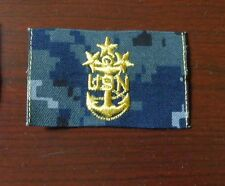 NAVY PATCH, MCPON RANK PATCH, MASTER CHIEF PETTY OFFICER OF THE NAVY, NWU BLUE