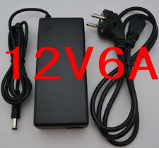 AC/DC LED Power supply Adapter Charger 12V 6A 72W for 5050/3528 LED CCTV + Cable