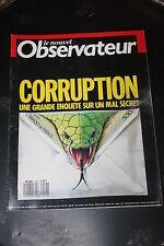 Le Nouvel Observateur N1216 1988 Corruption une grande enquête sur un mal secret