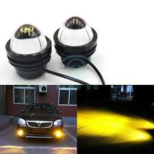2x High Power Car Golden Eye Yellow 5W LED Projector Fog Light DRL Lamps