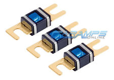 XSCORPION 250 AMP 3 PACK GOLD PLATED MINI ANL (AFS/MIDI) WAFER FUSES W LED LIGHT