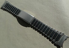 Timex Ironman Triathlon Stainless Steel Black 22mm Clasp Watch Band Round Ends