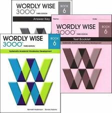 Wordly Wise 3000 Grade 6 Set (Student+Answer Key+Tests) 3rd Ed - FREE SHIPPING !