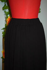 vintage 70s 80s black pleated skirt hipster