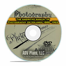 The American Annual of Photography, 24 Volumes, from 1888-1922, Camera DVD E67