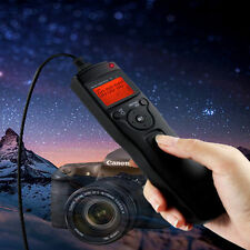For Canon 5D Mark II III 7D, LCD Timer Shutter Release Remote Control Cable UK