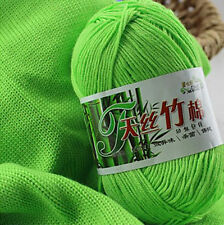 50g Super Soft Natural Smooth Bamboo Cotton Knitting Yarn Ball Cole New Hot