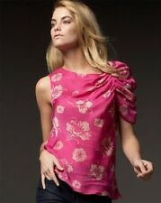 Leifsdottir MAHARANI BOUQUET Silk One Shoulder Top Blouse 2 US $228