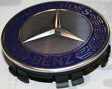 4 originale Mercedes Coperchio mozzo ruota Coprimozzo Stelle Corona di alloro