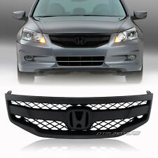 For 2011-2012 Honda Accord Sedan JDM Black ABS Plastic Mesh Front Grill Grille