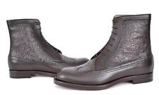 NEW GUCCI MEN'S 322508 CIRANO STRUZZO OMBRE OSTRICH ANKLE BOOTS SHOES 9.5 10