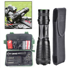 10000LM CREE XM-L T6 LED Zoom Flashlight Torch Bicycle Bike Light Lamp +2x 18650