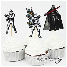 12 x Star Wars CUPCAKE CAKE TOPPER PICK. Food Party Fruit *Superb Quality*