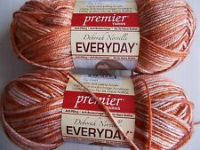 Premier Everyday  yarn, Clay Tone, lot of 2 (180 yds ea)