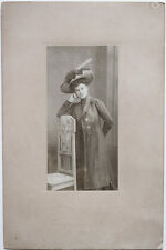 Original Vintage 1910s fashionable lady with great hat by HANS FRANK