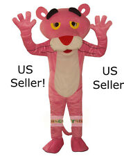 Professional Pink Panther Mascot Cartoon Costume Adult Size Fun Huge-US Seller!