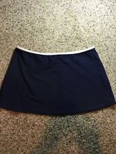 RALPH LAUREN Women's Blue Skirt Mini Elastic Waist See Pics For Size Kd1