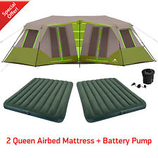 Cabin Tent Instant Camping 8 Person Green Outdoor Shelter Family Hiking Travel