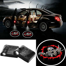 2pcs LED Car Door Logo Laser Projector Welcome Ghost Shadow Light For Skull New